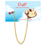 Puglie Love Pug 2 pc 2020 Collector Pin