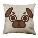 Puglie Mad Poot Face Linen Pillow Case