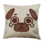 Puglie Tear Poot Face Linen Pillow Case