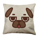 Puglie Ugh Poot Face Linen Pillow Case