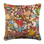 Puglie Wuglie Pile Pillow Case