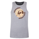 Puglie Heaviest Breathing Men's Tank Top - Brown Text