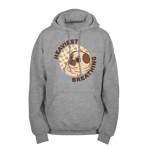 Puglie Heaviest Breathing Pullover Hoodie - Brown Text