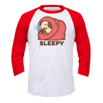 Sleepy Puglie Baseball Tee