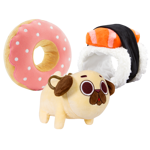 Puglie Plush with Donut & Sushi Costume Set