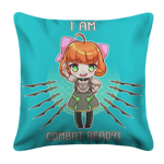 I Am Combat Ready! White Pillow Case