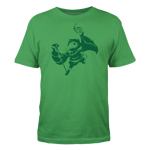 Shovel Knight Plague Knight Silhouette - Green Ink