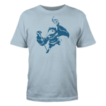 Shovel Knight Plague Knight Silhouette - Blue Ink