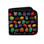 Happy Slimes Group Canvas Wallet