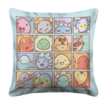 The Many Faces of Slimes Pillow Case