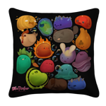 Happy Slimes Group Pillow Case