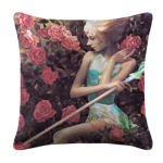Pearl in Roses White Pillow Case