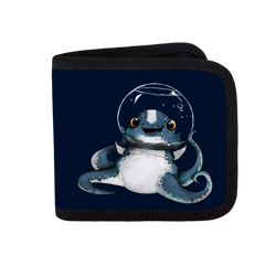 Keep Calm Cuddlefish Canvas Wallet
