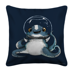 Keep Calm Cuddlefish White Pillow Case