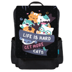 Hard Life Cats Backpack Flap