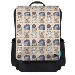 Vallis Cuddlies Toss Print Backpack Flap