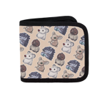 Vallis Cuddlies Toss Print Canvas Wallet