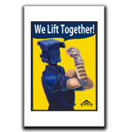 We Lift Together Art Print
