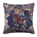 Fortuna Gang White Pillow Case